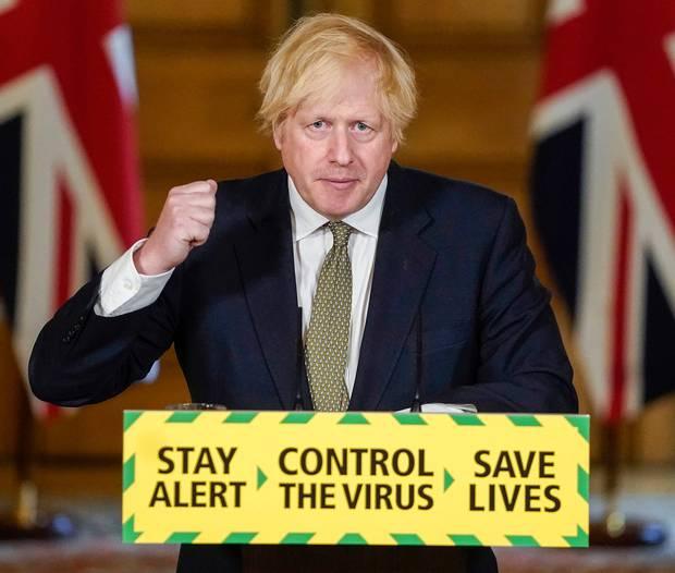 Britain's Prime Minister Boris Johnson speaks during a media briefing on coronavirus in Downing Street, London, Sunday May 24, 2020. Photo / AP