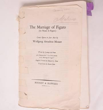 NZ opera star Dame Malvina Major's personal sheet music