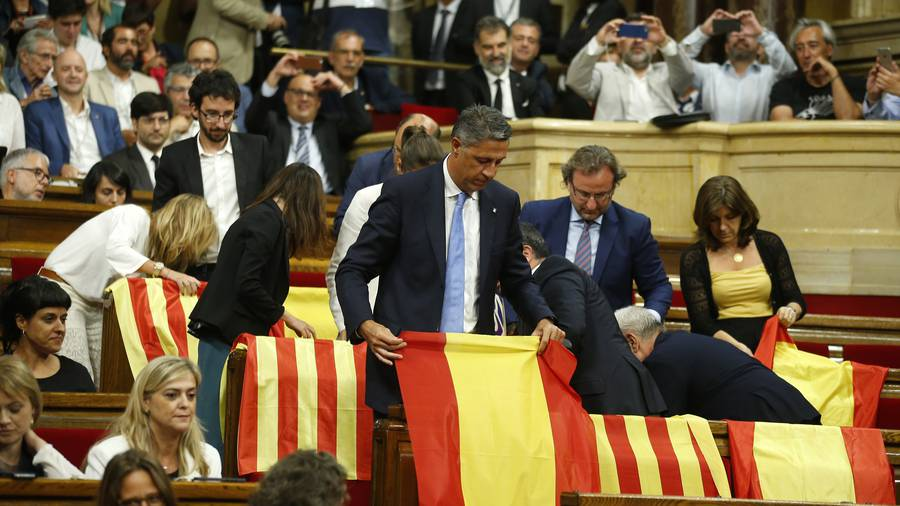 Catalonia parliament votes for October  1 referendum on split from Spain