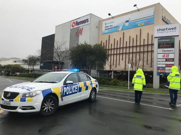 A number of suspected homemade bombs have been found at a Hamilton mall this morning. Photo / Belinda Feek