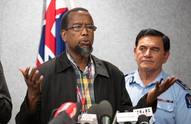 Dr Mustafa Farouk, pictured at media conference after the mosque shootings, also said the Federation of Islamic Associations was not involved in the planned service. File photo / Mark Mitchell