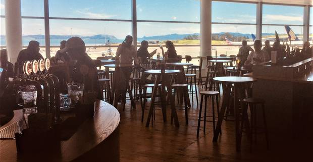 A new bar in the international departure area at Auckland Airport. Photo / Grant Bradley