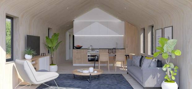 A living area in one of the homes. Image / Supplied