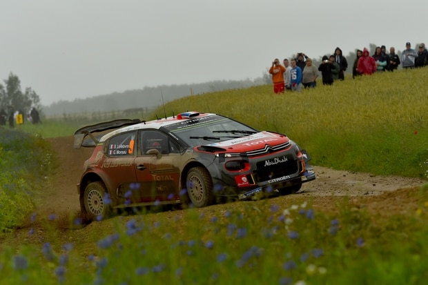 Stephane Lefebvre in action during Rally Poland. Photo / Getty Images