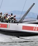 Prada sponsor Luna Rossa, as seen here at the 2017 Cup. Photo / Getty