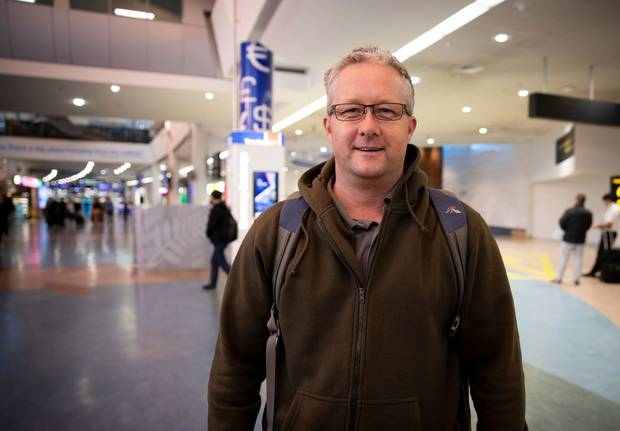 Showers are on Sean Clark's wish list for Auckland Airport improvements. Photo / Dean Purcell