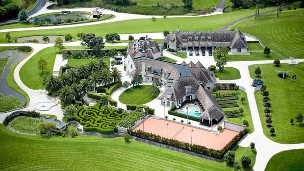 The former Dotcom mansion in Coatesville. Kim and Liz Dotcom live in a neighbouring bungalow.