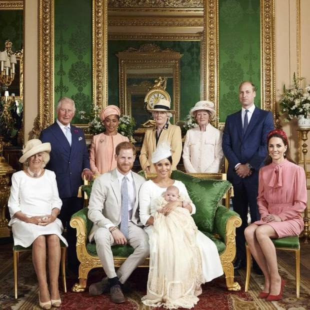 Though not pictured in the official christening photo released by the Duke and Duchess of Sussex, Tiggy was spotted attending baby Archie's Christening. Photo / AP