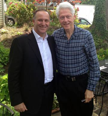Image result for john key bill clinton