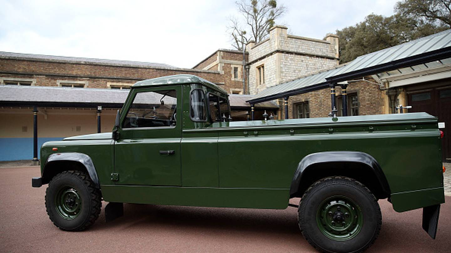 The Land Rover will transport the coffin of Prince Philip, Duke of Edinburgh. Photo / Getty Images