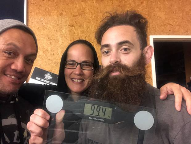 At his most recent weigh in, Campbell realised his dream of losing 100kg. Photo / Supplied