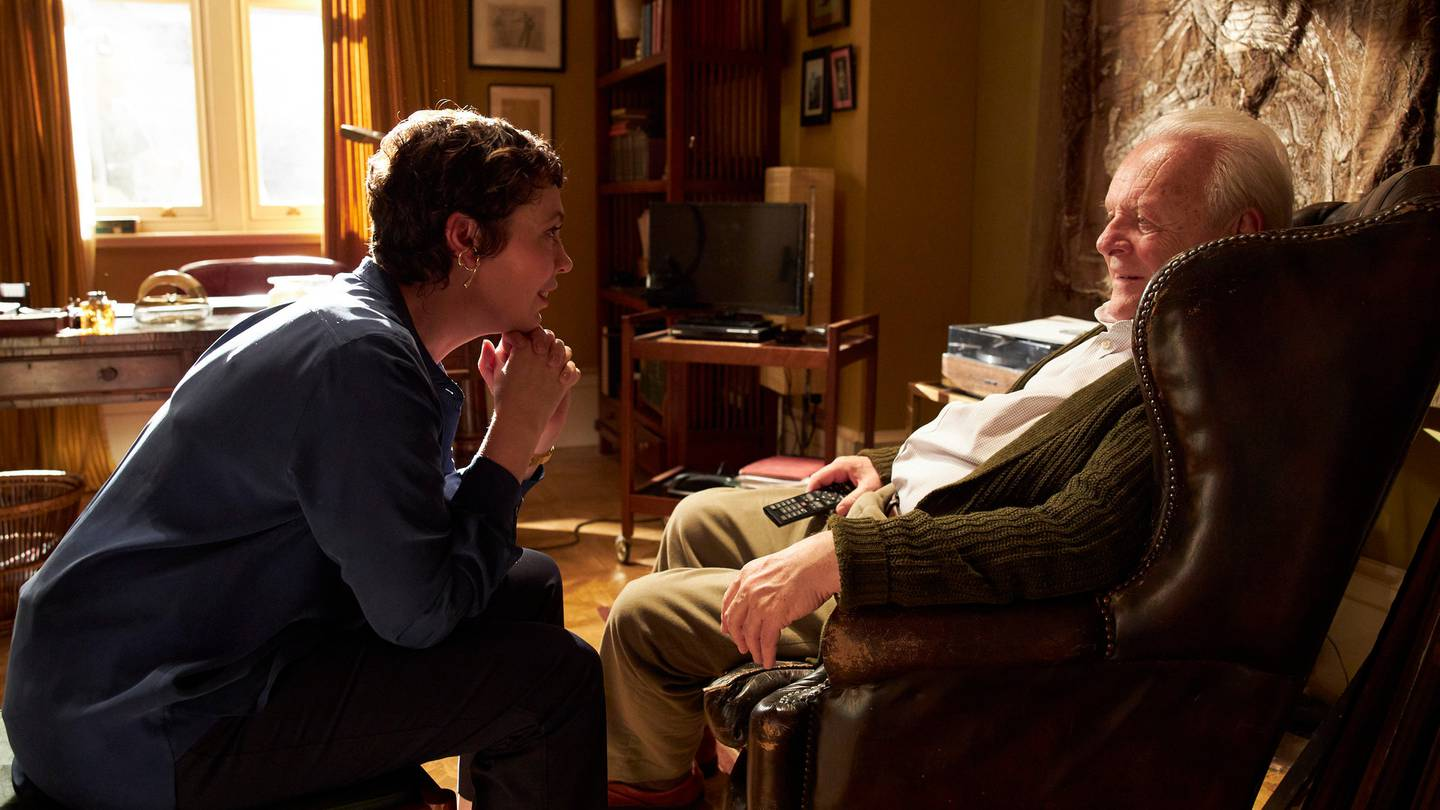 The Father stars Olivia Colman and Anthony Hopkins. Photo / Supplied