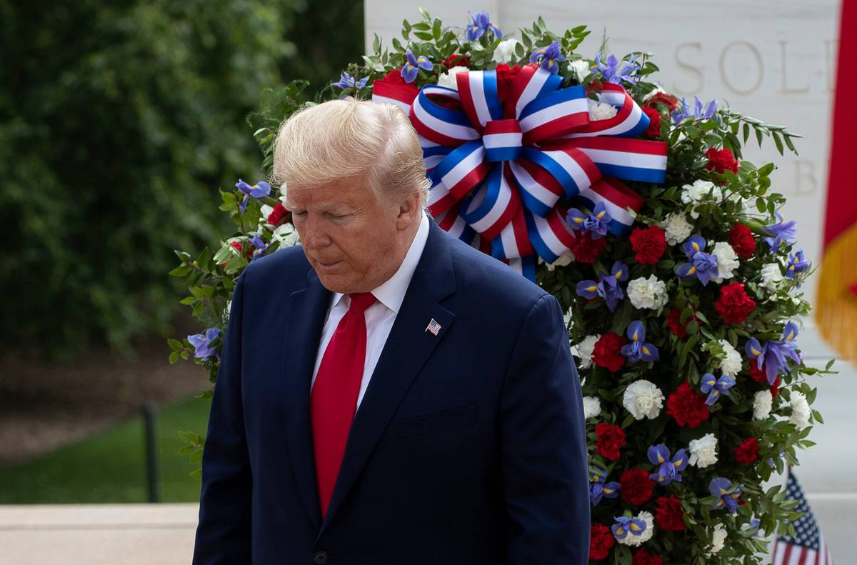 Donald Trump mocked for struggling to stand still during Memorial Day visit to Arlington National Cemetery