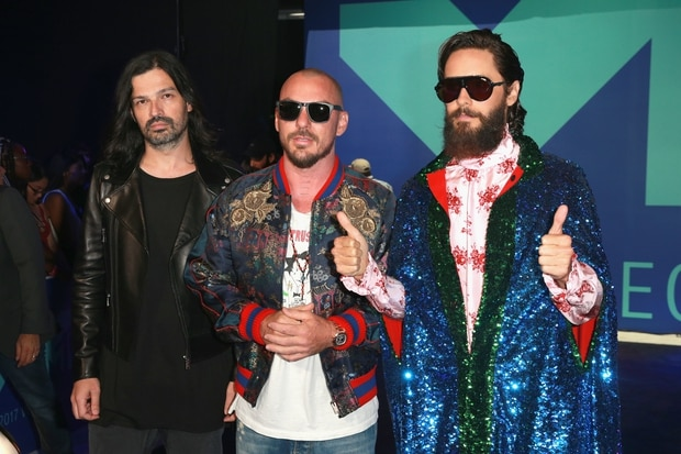 Tomo Milicevic, Shannon Leto and Jared Leto. Photo / Getty