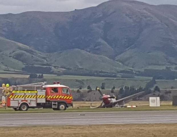 The plane crashed during Warbirds Over Wanaka International Airshow. Photo / Louise Frampton via ODT