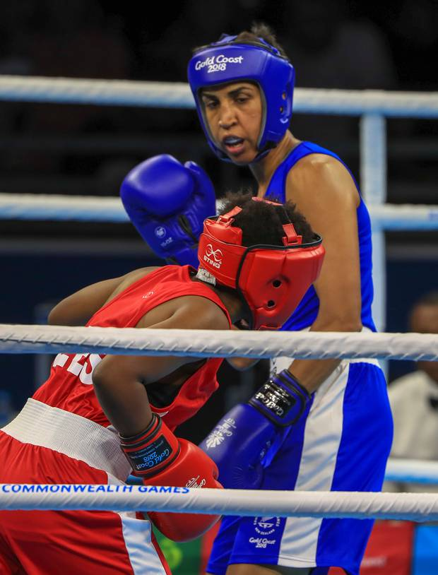 Alexis Pritchard progressed to the semis of the 57kg division. Photo / Photosport
