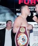 New Zealand heavyweight boxer and WBO world champion Joseph Parker and England's Hughie Fury weigh in for their heavyweight world title fight. Photo / Photosport.co.nz