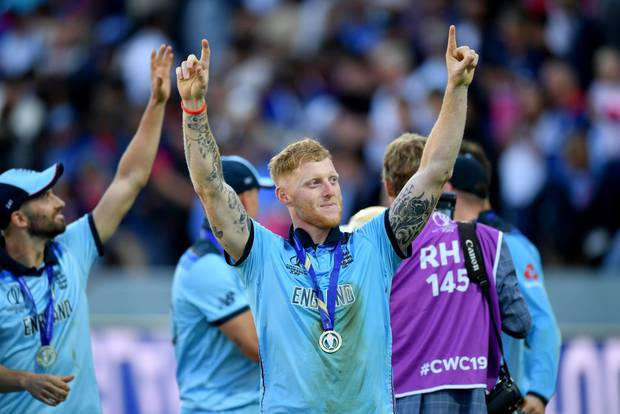 Brilliant Ben...a jubilant Stokes after leading England to victory. Photo / Getty Images
