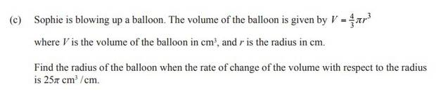 Question 1(c) of the NCEA Level 2 Calculus exam.