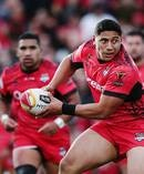 Jason Taumalolo in action for Tonga at the Rugby League World Cup. Photo / Getty Images.