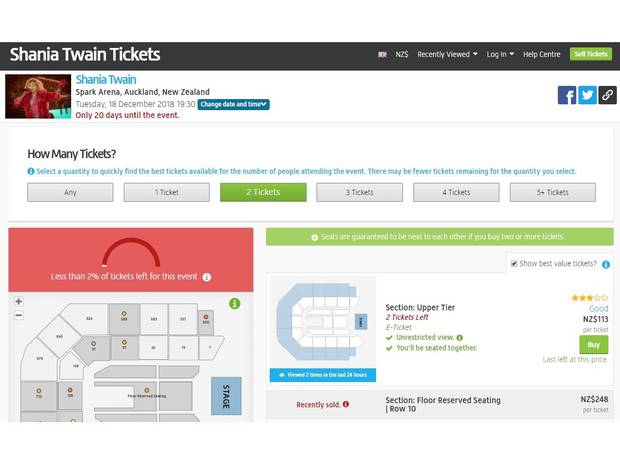 Google's policy says a ticket re-sale site cannot imply it is the original seller of a ticket, and must display the original price of a ticket. Viagogo (pictured) doesn't always follow those rules.