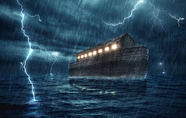 Image result for pics of the flood and Noah