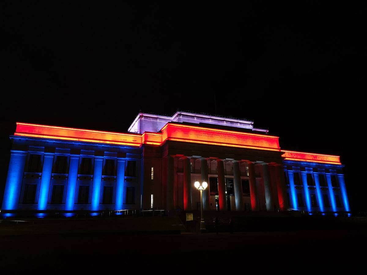 Auckland War Memorial Museum lights up for Cook Islands Language Week