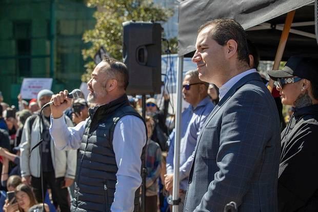 Crowds rally in New Zealand's Auckland against coronavirus lockdown