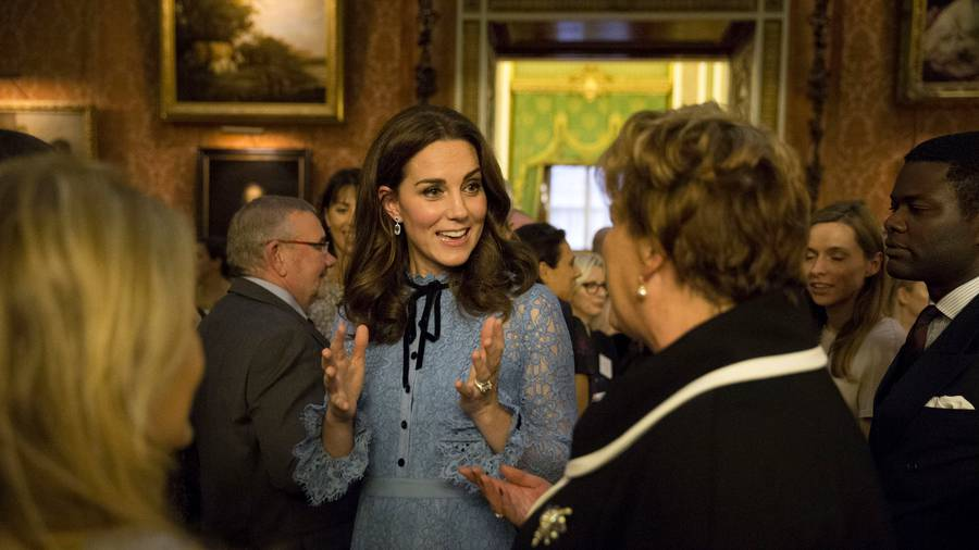 Kate Middleton makes first public appearance since pregnancy announcement