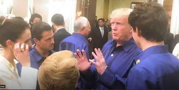 Donald Trump and Jacinda Ardern first met at Apec in Vietnam in 2017. Photo / Twitter