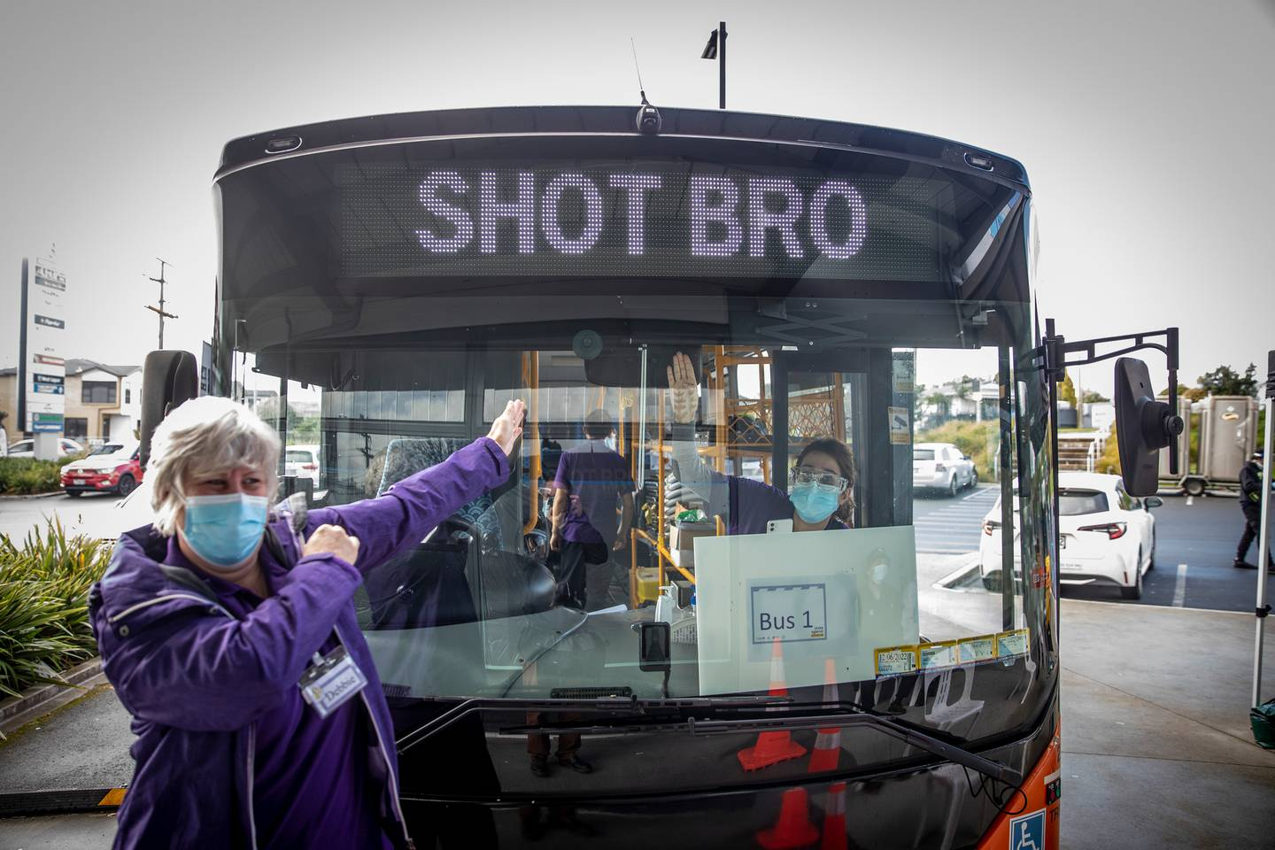 The Shot Bro vaccination bus is one of the initiative's launched last week aimed at getting more Māori and Pasifika people vaccinated. Photo / Michael Craig