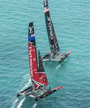 Team NZ, Oracle sailing during the 35th America's Cup Bermuda 2017. Photo / File