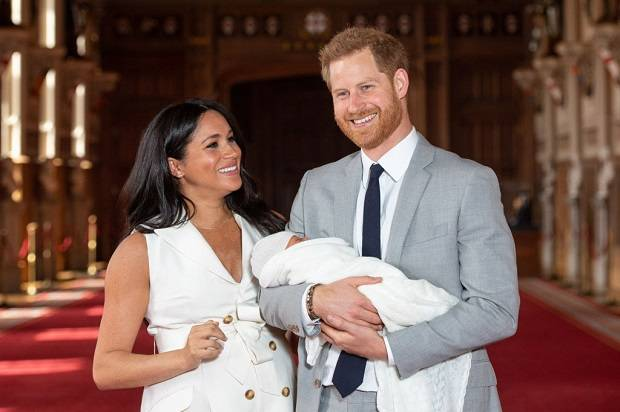 Harry and Meghan with their son Archie Harrison Mountbatten-Windsor. Photo / Getty Images