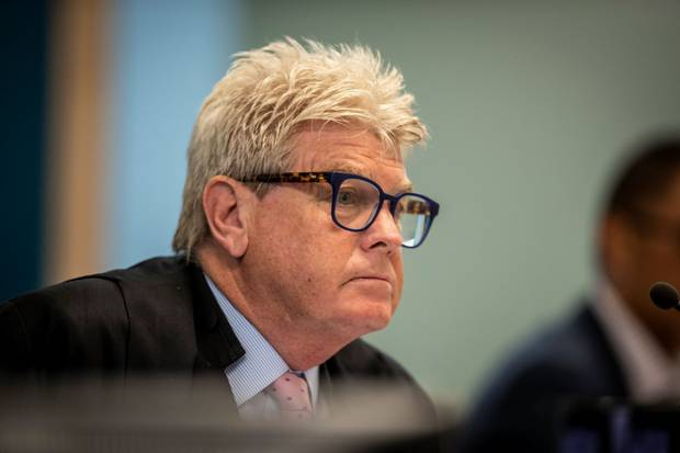 Justice Simon Moore is summing up to the jury today. Photo / Michael Craig