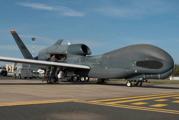 A US RQ-4 Global Hawk has been shot down by Iran. Photo / AP