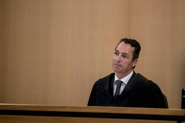 Judge Evangelos Thomas declined granting the defendant name suppression at his first appearance. Photo / Michael Craig