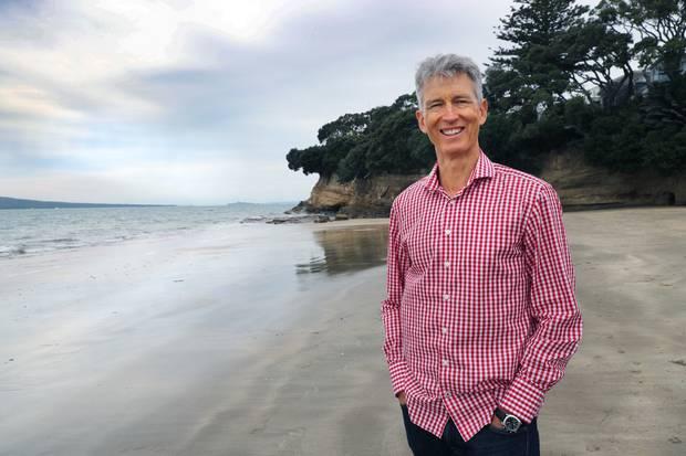 Philip McDonald on Takapuna Beach, Auckland. Photo / Doug Sherring