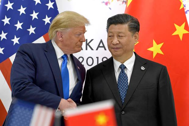 US President Donald Trump with Chinese President Xi Jinping in June 2019. Relations between the US and China have soured in recent months. Photo / AP