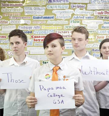 4d96b3d5f8c Papamoa College s Gay Straight Alliance held a Day of Silence to support  their LGBTQ peers.