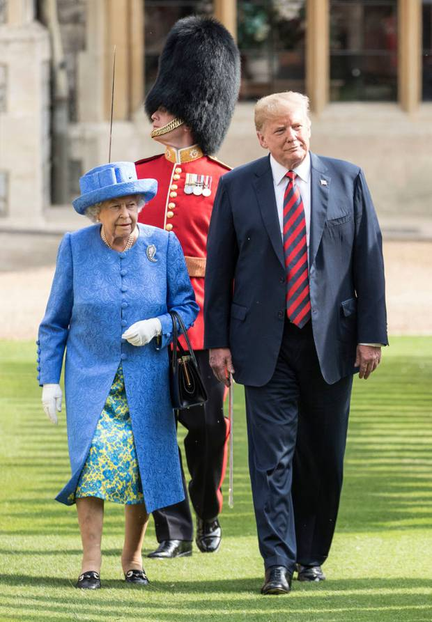 US President Donald Trump and Queen Elizabeth II at Windsor Castle. Photo / Getty Images