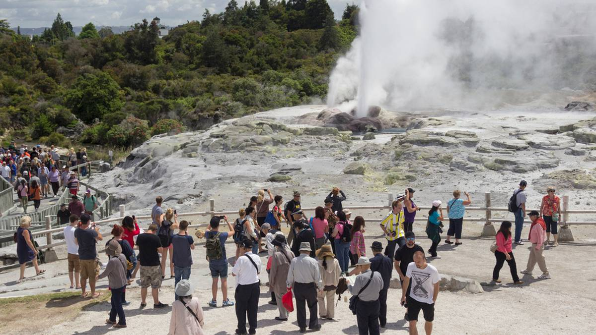 increasing risk to tourists visiting volcanic