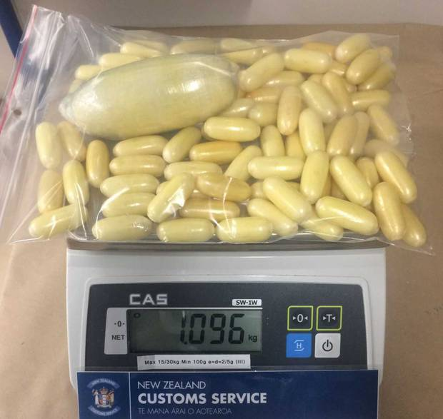 The cocaine pellets had a street value of about $310,000. Photo / NZ Customs