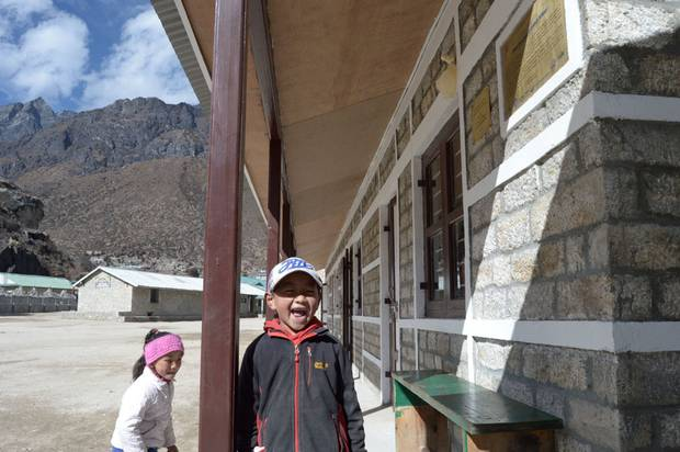 The five new Himalayan Trust-funded classrooms at Khumjung Secondary School in Nepal were built to withstand future earthquakes. Photo / Himalayan Trust