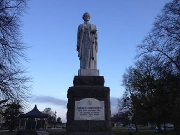 Dr Margaret Cruickshank, who cared for sick Waimate patients in the 1918 influenza pandemic and died from the disease, is commemorated by a statue in the South Island town.