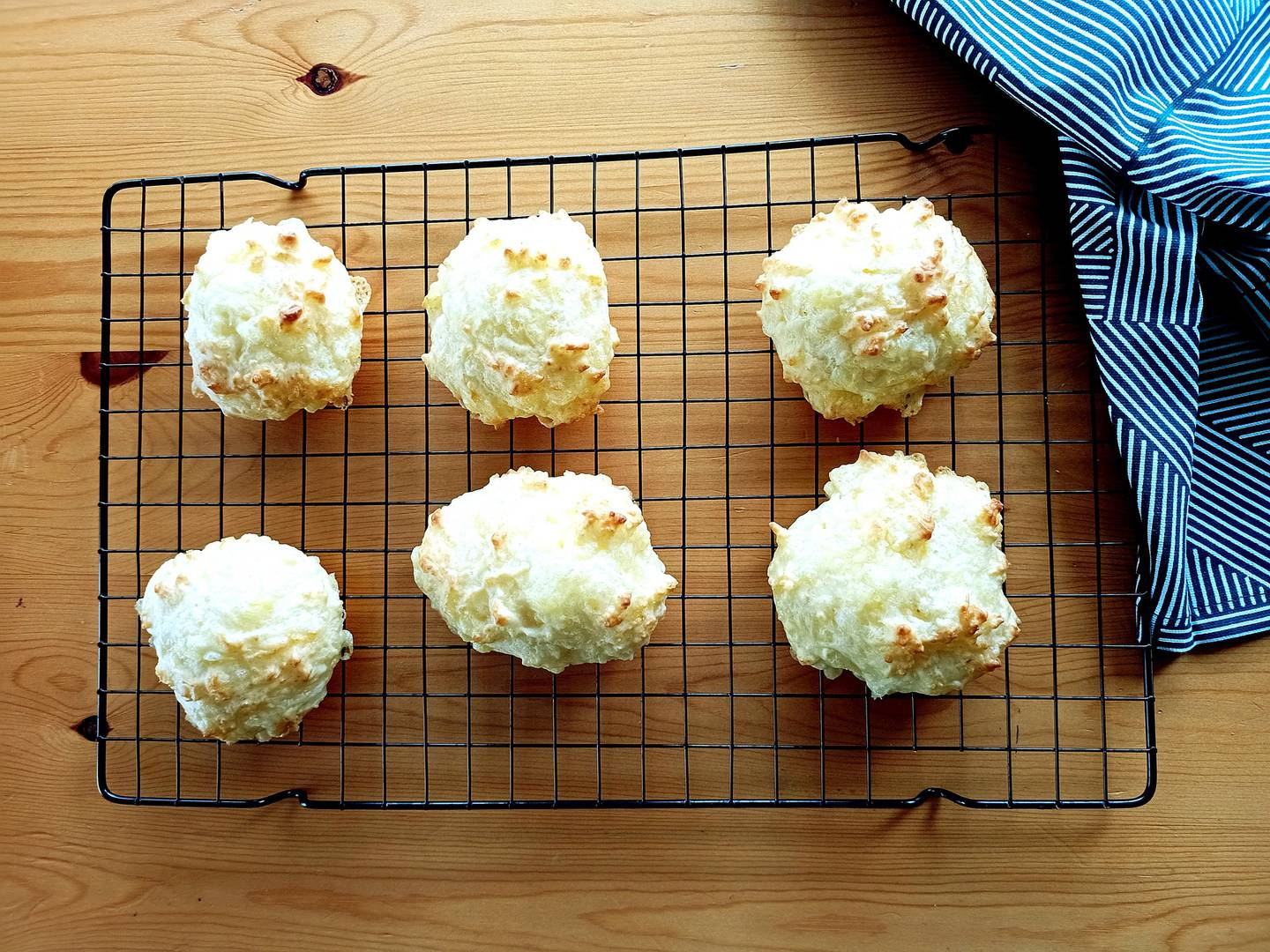 These cheese puffs don't take long to cool, enjoy! Photo / NZH