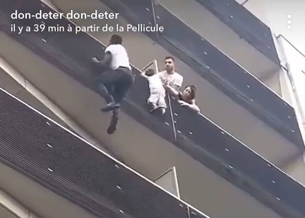 Illegal Immigrant Saves Child Dangling From Balcony: Earns French Citizenship