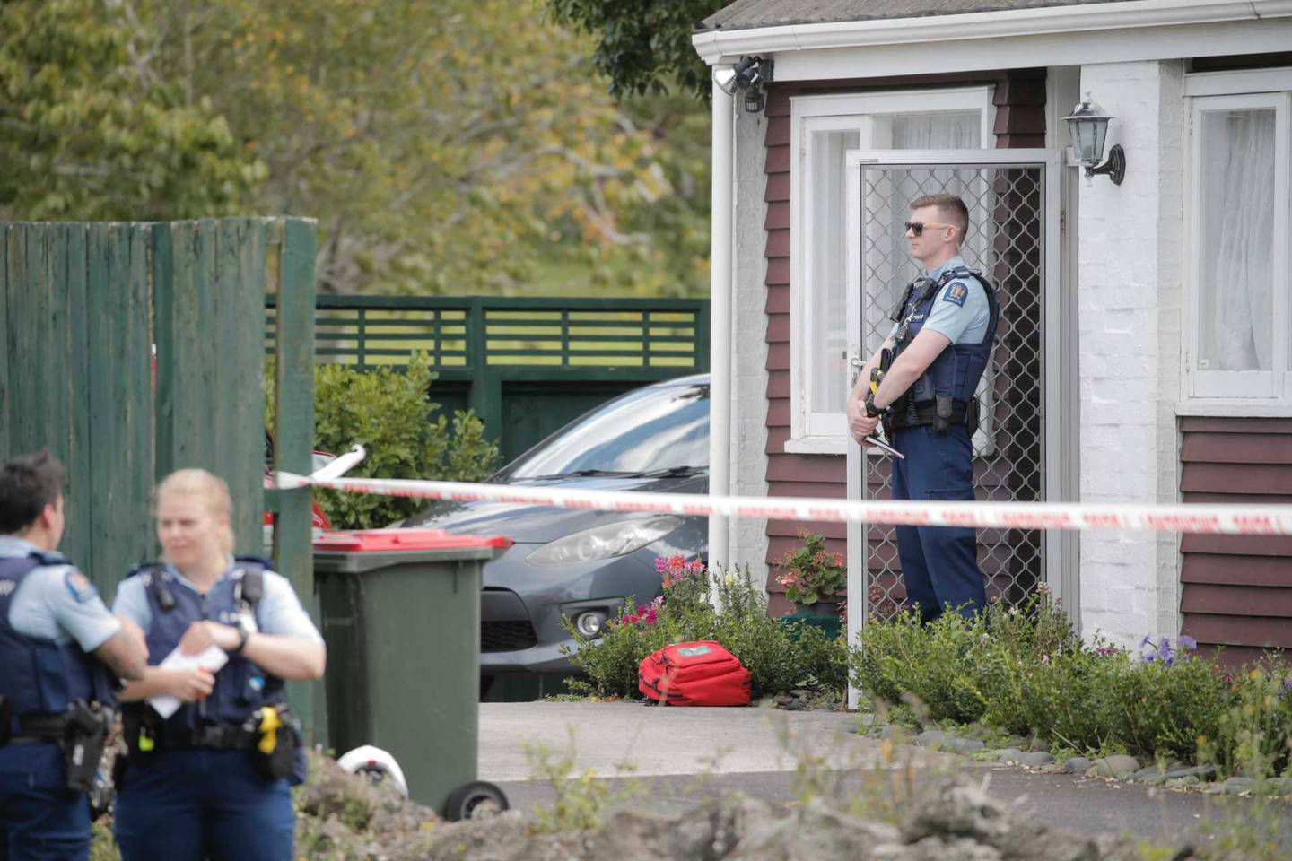 Police have cordoned off the house on The Drive in the Auckland suburb of Epsom.