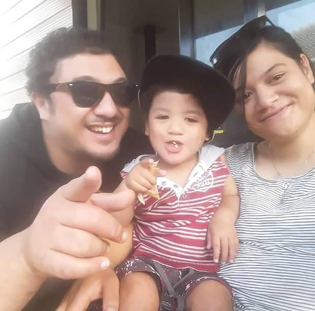 Dion Junior Batt and Talia Parkinson with their son Deajay, who died while in Oranga Tamariki care. Photo / Supplied