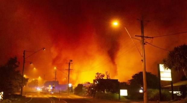 Bushfire approaching Peregian Beach township. Photo / news.com.au