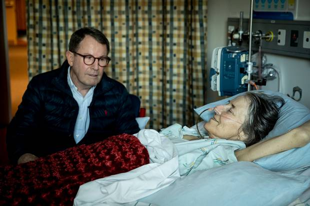 Former Auckland Mayor John Banks makes a visit to activist Penny Bright. Photo / Dean Purcell